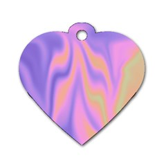 Holographic Design Dog Tag Heart (one Side)