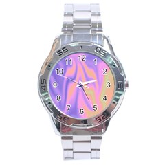 Holographic Design Stainless Steel Analogue Watch