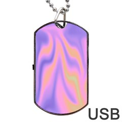 Holographic Design Dog Tag Usb Flash (one Side)