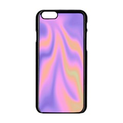 Holographic Design Apple Iphone 6/6s Black Enamel Case