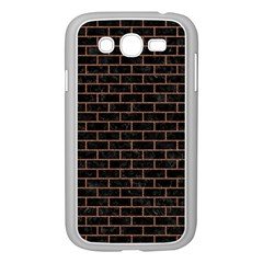 Brick1 Black Marble & Brown Denim (r) Samsung Galaxy Grand Duos I9082 Case (white) by trendistuff