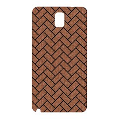 Brick2 Black Marble & Brown Denim Samsung Galaxy Note 3 N9005 Hardshell Back Case by trendistuff
