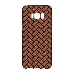Brick2 Black Marble & Brown Denim Samsung Galaxy S8 Hardshell Case  by trendistuff