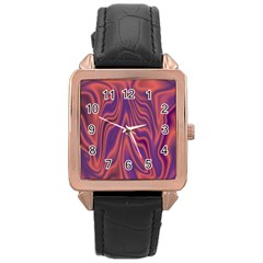 Holographic Design Rose Gold Leather Watch  by tarastyle