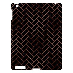 Brick2 Black Marble & Brown Denim (r) Apple Ipad 3/4 Hardshell Case by trendistuff