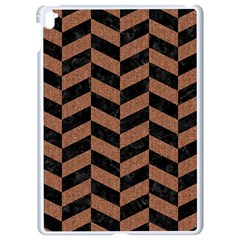 Chevron1 Black Marble & Brown Denim Apple Ipad Pro 9 7   White Seamless Case by trendistuff
