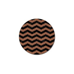 Chevron3 Black Marble & Brown Denim Golf Ball Marker (4 Pack) by trendistuff