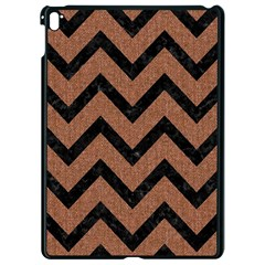 Chevron9 Black Marble & Brown Denim Apple Ipad Pro 9 7   Black Seamless Case by trendistuff