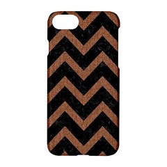Chevron9 Black Marble & Brown Denim (r) Apple Iphone 8 Hardshell Case