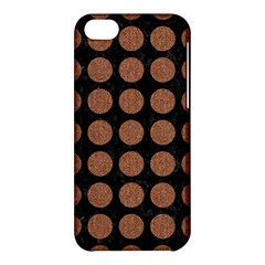 Circles1 Black Marble & Brown Denim (r) Apple Iphone 5c Hardshell Case by trendistuff