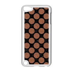 Circles2 Black Marble & Brown Denim (r) Apple Ipod Touch 5 Case (white) by trendistuff