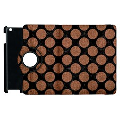 Circles2 Black Marble & Brown Denim (r) Apple Ipad 3/4 Flip 360 Case by trendistuff