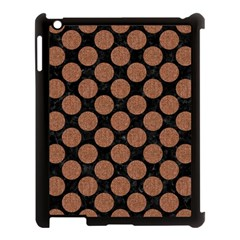 Circles2 Black Marble & Brown Denim (r) Apple Ipad 3/4 Case (black) by trendistuff