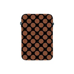 Circles2 Black Marble & Brown Denim (r) Apple Ipad Mini Protective Soft Cases by trendistuff