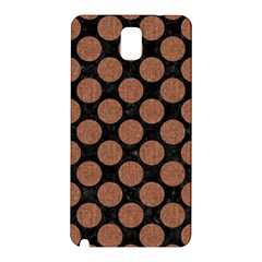 Circles2 Black Marble & Brown Denim (r) Samsung Galaxy Note 3 N9005 Hardshell Back Case by trendistuff