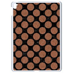 Circles2 Black Marble & Brown Denim (r) Apple Ipad Pro 9 7   White Seamless Case by trendistuff