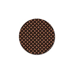 Circles3 Black Marble & Brown Denim Golf Ball Marker by trendistuff