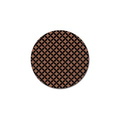 Circles3 Black Marble & Brown Denim Golf Ball Marker (10 Pack) by trendistuff