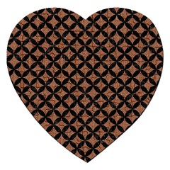 Circles3 Black Marble & Brown Denim Jigsaw Puzzle (heart) by trendistuff