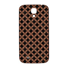Circles3 Black Marble & Brown Denim (r) Samsung Galaxy S4 I9500/i9505  Hardshell Back Case by trendistuff