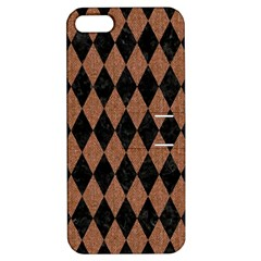 Diamond1 Black Marble & Brown Denim Apple Iphone 5 Hardshell Case With Stand by trendistuff