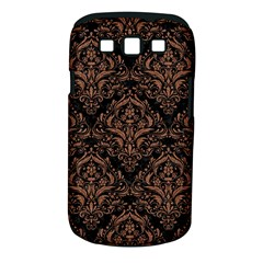 Damask1 Black Marble & Brown Denim (r) Samsung Galaxy S Iii Classic Hardshell Case (pc+silicone) by trendistuff