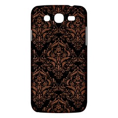 Damask1 Black Marble & Brown Denim (r) Samsung Galaxy Mega 5 8 I9152 Hardshell Case  by trendistuff
