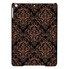 Damask1 Black Marble & Brown Denim (r) Ipad Air Hardshell Cases by trendistuff