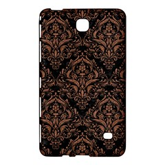 Damask1 Black Marble & Brown Denim (r) Samsung Galaxy Tab 4 (7 ) Hardshell Case  by trendistuff