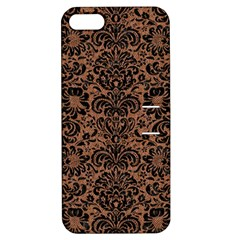 Damask2 Black Marble & Brown Denim Apple Iphone 5 Hardshell Case With Stand by trendistuff