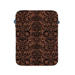 Damask2 Black Marble & Brown Denim Apple Ipad 2/3/4 Protective Soft Cases