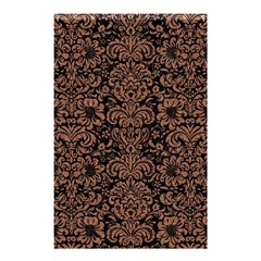Damask2 Black Marble & Brown Denim (r) Shower Curtain 48  X 72  (small)  by trendistuff