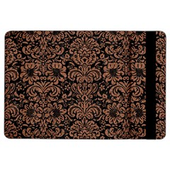 Damask2 Black Marble & Brown Denim (r) Ipad Air 2 Flip by trendistuff