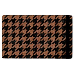 Houndstooth1 Black Marble & Brown Denim Apple Ipad Pro 12 9   Flip Case by trendistuff