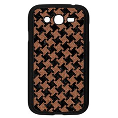 Houndstooth2 Black Marble & Brown Denim Samsung Galaxy Grand Duos I9082 Case (black) by trendistuff