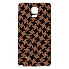 Houndstooth2 Black Marble & Brown Denim Galaxy Note 4 Back Case by trendistuff