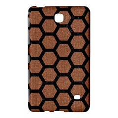 Hexagon2 Black Marble & Brown Denim Samsung Galaxy Tab 4 (8 ) Hardshell Case  by trendistuff