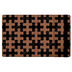 Puzzle1 Black Marble & Brown Denim Apple Ipad 2 Flip Case by trendistuff