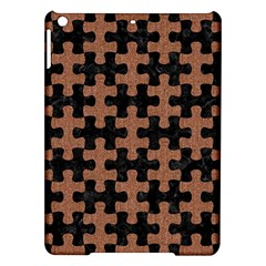 Puzzle1 Black Marble & Brown Denim Ipad Air Hardshell Cases by trendistuff
