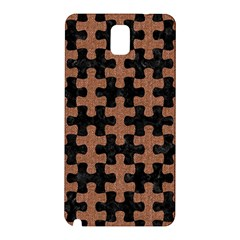 Puzzle1 Black Marble & Brown Denim Samsung Galaxy Note 3 N9005 Hardshell Back Case by trendistuff