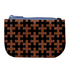 Puzzle1 Black Marble & Brown Denim Large Coin Purse