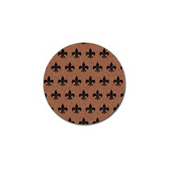 Royal1 Black Marble & Brown Denim (r) Golf Ball Marker (10 Pack) by trendistuff