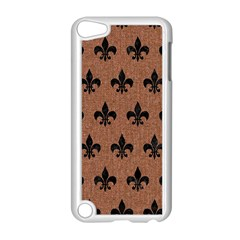 Royal1 Black Marble & Brown Denim (r) Apple Ipod Touch 5 Case (white) by trendistuff