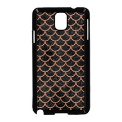 Scales1 Black Marble & Brown Denim (r) Samsung Galaxy Note 3 Neo Hardshell Case (black) by trendistuff