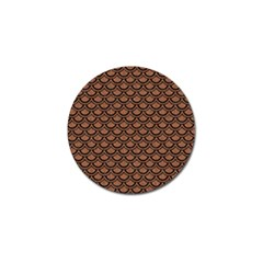 Scales2 Black Marble & Brown Denim Golf Ball Marker by trendistuff