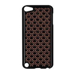Scales2 Black Marble & Brown Denim (r) Apple Ipod Touch 5 Case (black) by trendistuff