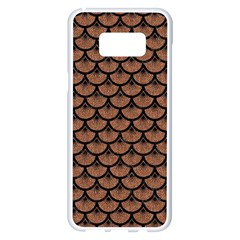 Scales3 Black Marble & Brown Denim Samsung Galaxy S8 Plus White Seamless Case