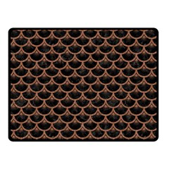 Scales3 Black Marble & Brown Denim (r) Double Sided Fleece Blanket (small)  by trendistuff