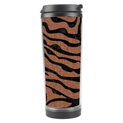 Skin2 Black Marble & Brown Denim Travel Tumbler by trendistuff