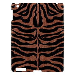 Skin2 Black Marble & Brown Denim (r) Apple Ipad 3/4 Hardshell Case by trendistuff